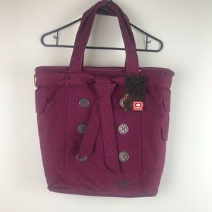 Ogio Hamptons laptop tote bag wine